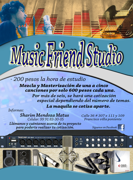 Flyer Número 2 de Music Friend Studio.